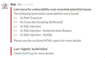 Security Scan Slack Summary
